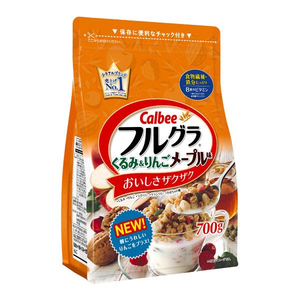 送料無料 カルビー フルグラ くるみ&りんごメープル味 6袋(1ケース)(YB)