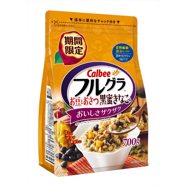 カルビー フルグラ お豆とおさつ黒蜜きなこ味 600g×6個 (1ケース)(YB)