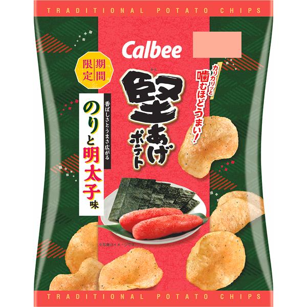 カルビー 堅あげポテト のりと明太子味 60g×12個入り (1ケース) (MS)