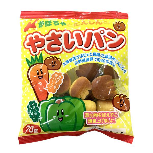 カネ増製菓 かばちゃとにんじんのやさいパン 70g×16袋(1ケース)(YB)