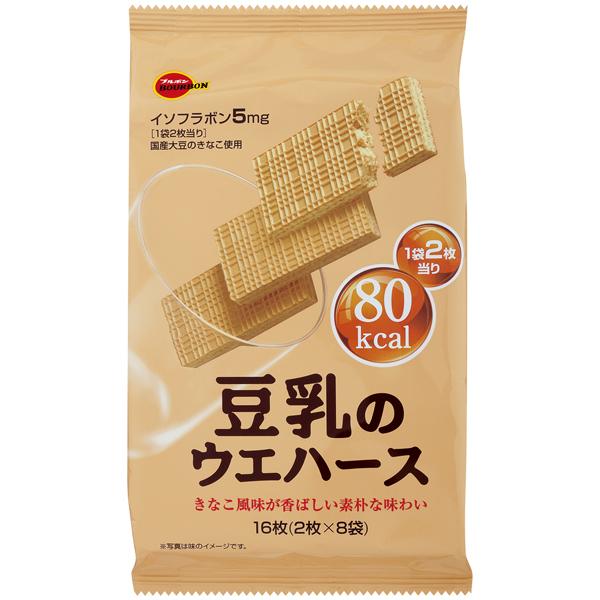 ブルボン 豆乳のウエハース 16枚×24個入り (2ケース) (MS)