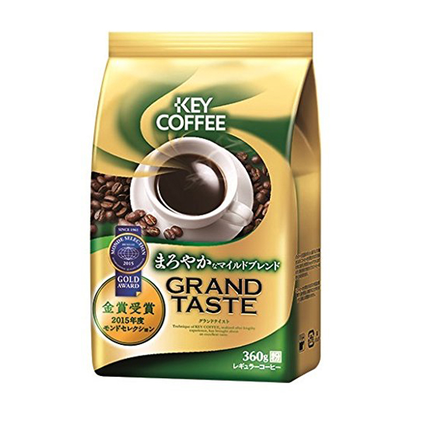 キーコーヒー グランドテイスト まろやかなマイルドブレンド 360g(1ケース12袋) (MS)【クレジット決済のみ】
