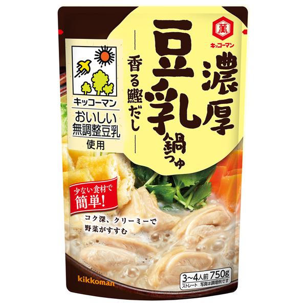 キッコーマン 濃厚豆乳鍋つゆ香る鰹だし 750g×12個入り (1ケース) (KT)