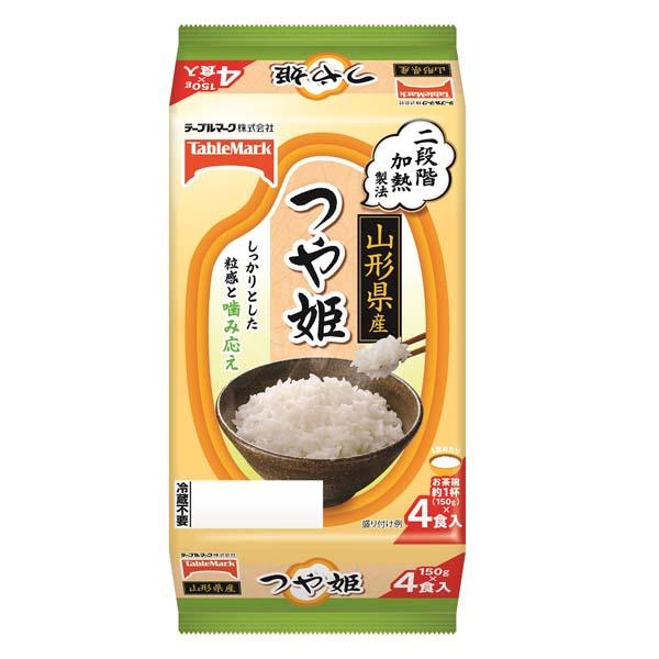 送料無料 たきたてご飯山形県産つや姫4食 ×8個(1ケース)(MS)