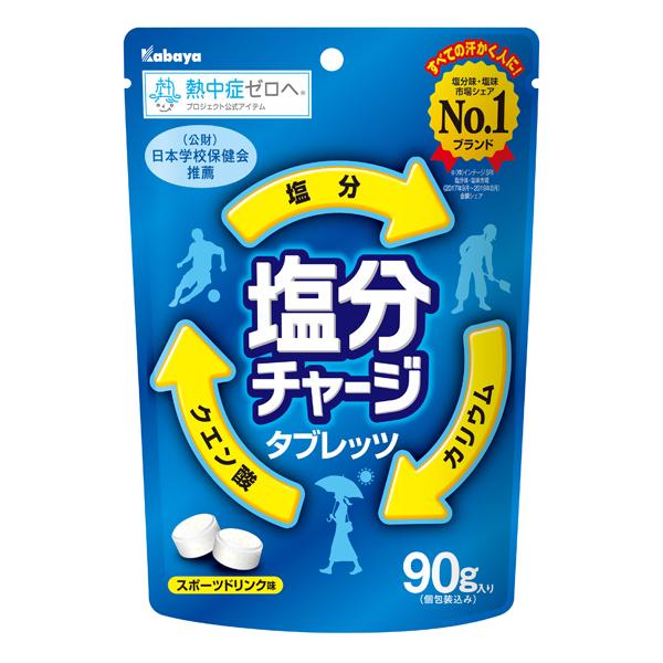カバヤ 塩分チャージタブレッツ 90g×12個入り (2ケース) (YB)