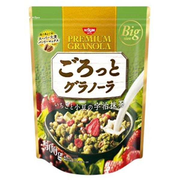 送料無料 日清シスコ ごろっとグラノーラいちごと小豆の宇治抹茶 500g×12個 KT