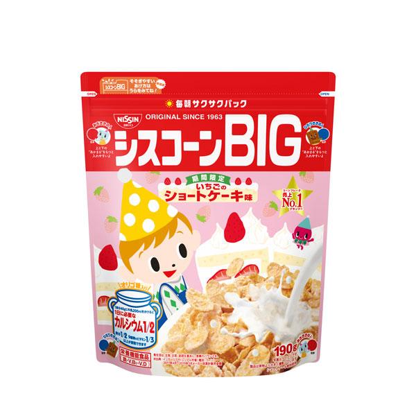 日清シスコ シスコーンBIg いちごのショートケーキ味 190g×18個入り (3ケース) (MS)