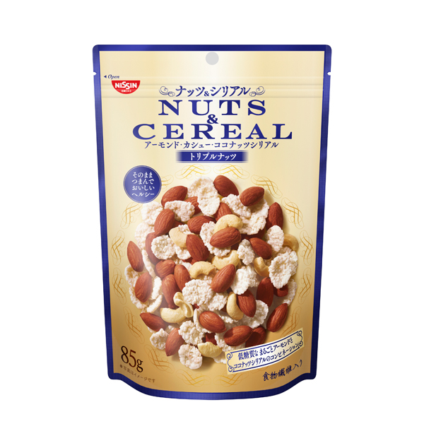日清シスコ NUTS&CEREAL トリプルナッツ 85g×8個入り (1ケース) (YB)