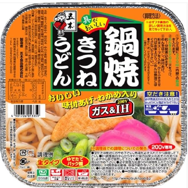 五木 鍋焼きつねうどん 18個入り×1ケース【クレジット決済のみ】KK