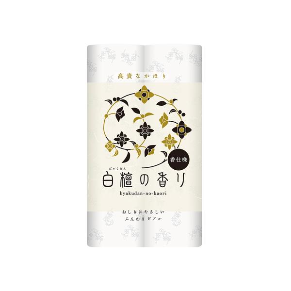 白檀の香りトイレット12ロールダブル 30m 12ロール×8個入り (1ケース)(SH)