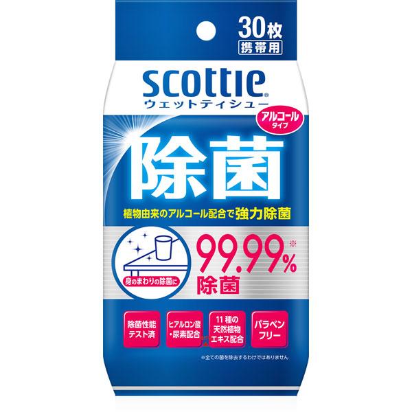 スコッティ ウェットティシュー除菌アルコールタイプ30枚携帯用 (SH)