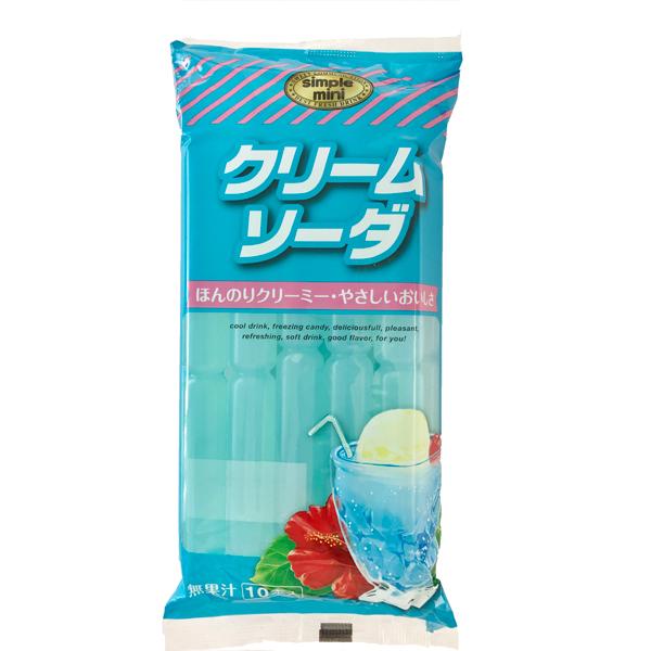 しんこう シンプルミニ クリームソーダ 10本入 15個(1ケース)(YB)
