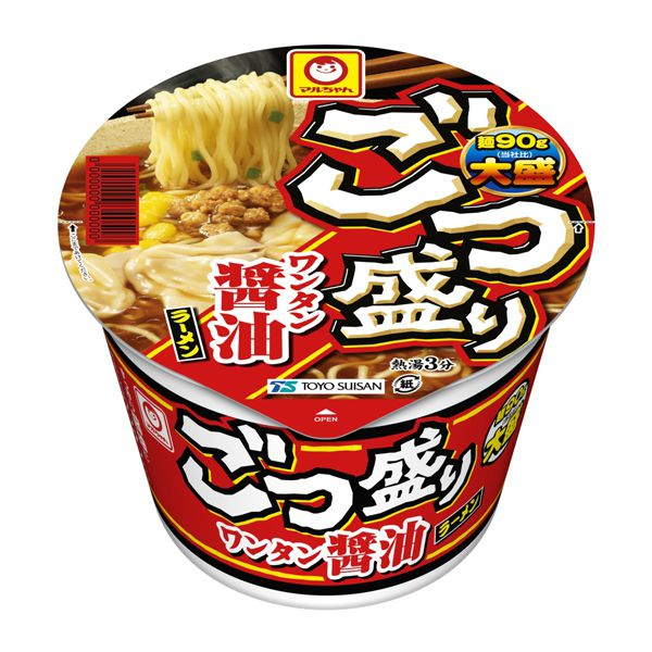 マルちゃん ごつ盛り ワンタン醤油ラーメン 117g×12 (KK)【クレジット決済のみ】
