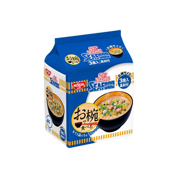 日清 お椀で食べるカップヌードルシーフード 3食×18個入り (2ケース) (KT)