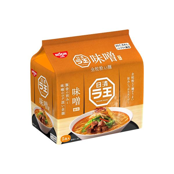 日清ラ王 味噌 5食パック 495g×6個入り (1ケース) (MS)