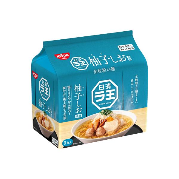 日清ラ王 柚子しお 5食パック 465g×6個入り (1ケース) (MS)