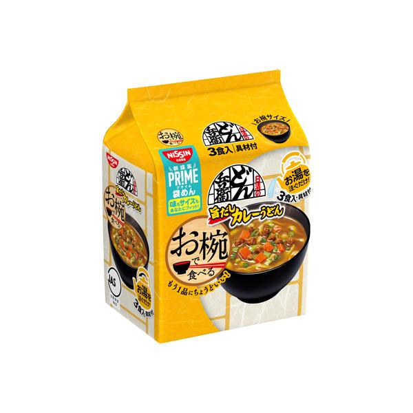 日清 お椀で食べるどん兵衛 カレーうどん 3食パック 99g×18個入り (2ケース) (KT)