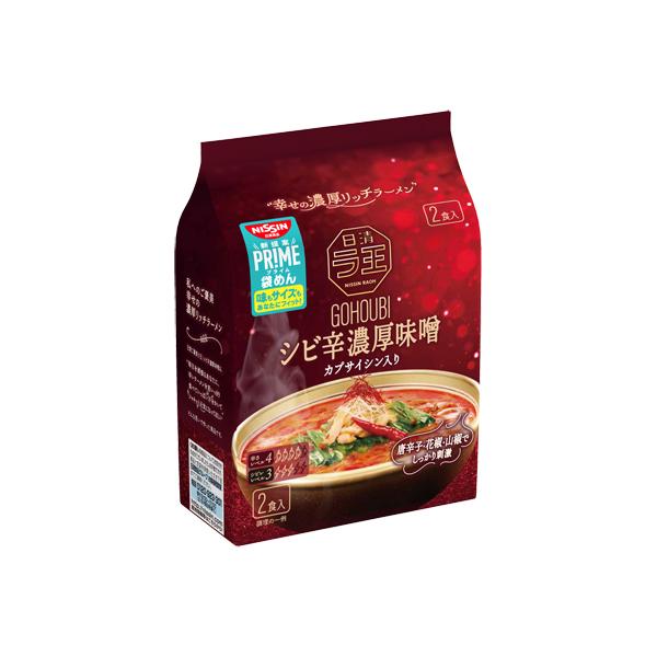日清ご褒美ラ王 シビ辛濃厚味噌 2食パック 242g×18個入り (2ケース) (KT)