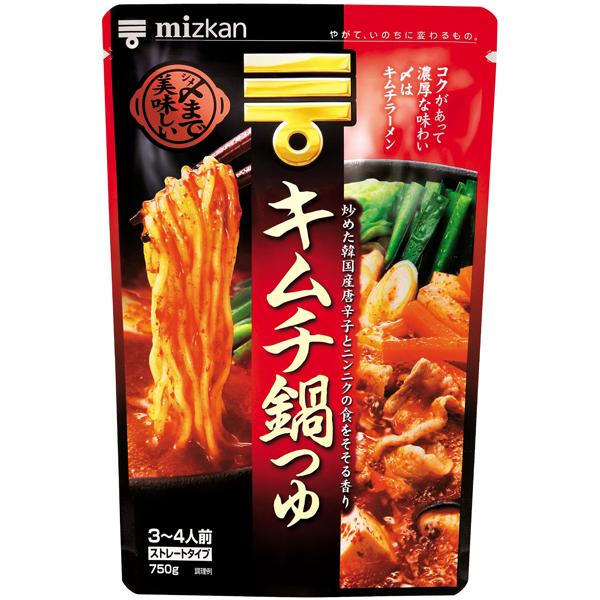 ミツカン 〆まで美味しいキムチ鍋つゆストレート 750g×12個入り (1ケース) (KT)