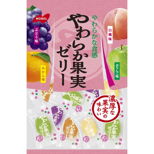 ノーベル やわらか果実ゼリー 230g 6袋 (1ケース)(YB)