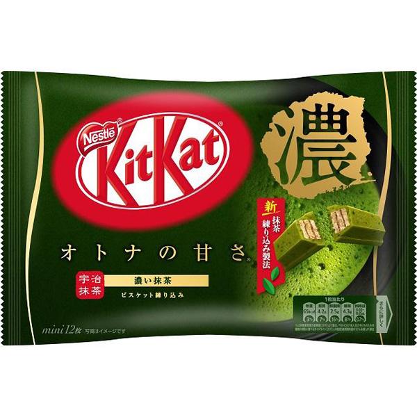 キットカット ミニ オトナの甘さ 濃い抹茶 12枚×12個 (1ケース) (YB)