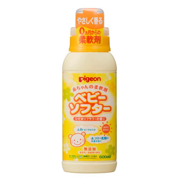 ピジョン 赤ちゃんの柔軟剤ベビーソフター香り付 600ml(PP)