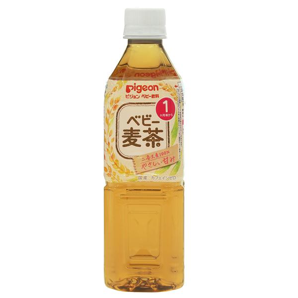 ピジョン ベビー麦茶 500ml×24本入 (1ケース)(PP)