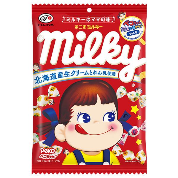 不二家 ミルキー袋 120g×48個入り (1ケース) (MS)