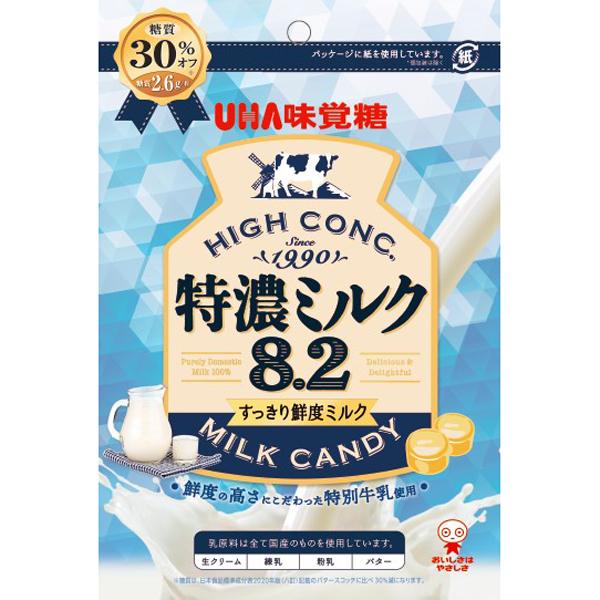 UHA味覚糖  特濃ミルク8.2 すっきり鮮度ミルク 75g×72個入り (1ケース)(SB)