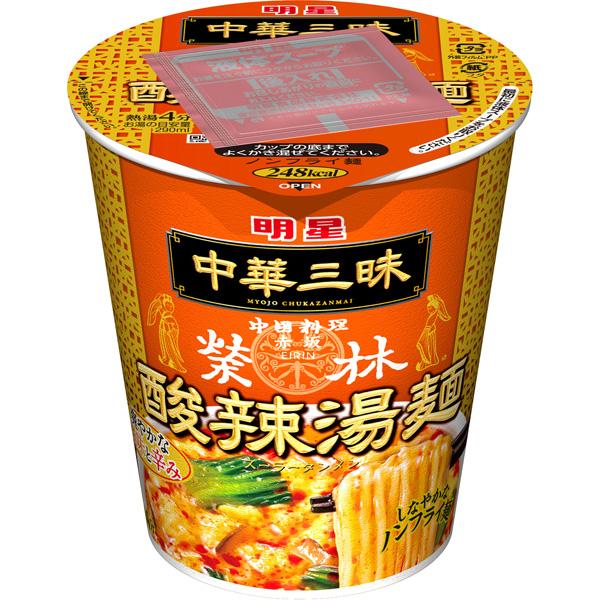 明星 中華三昧タテ型赤坂榮林 酸辣湯麺 66g×12個入り (1ケース) (KT)