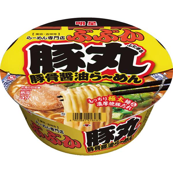 明星 ぶぶか 豚丸 豚骨醤油らーめん 119g×12個入り (1ケース) (MS)