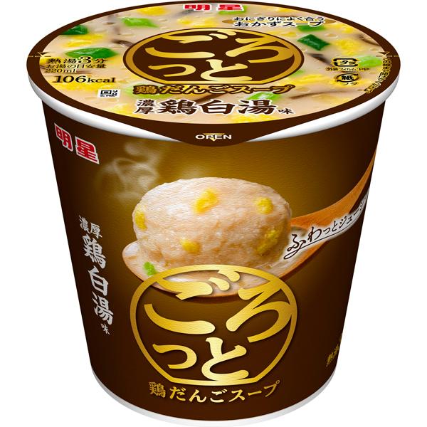 明星 ごろっと鶏だんごスープ 濃厚鶏白湯味 24g×24個入り (4ケース) (MS)