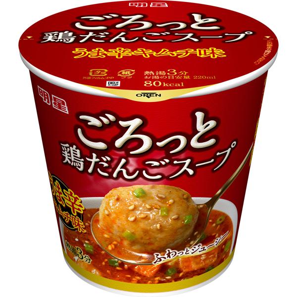 明星 ごろっと鶏だんごスープ うま辛キムチ味 17g×24個入り (1ケース) (MS)
