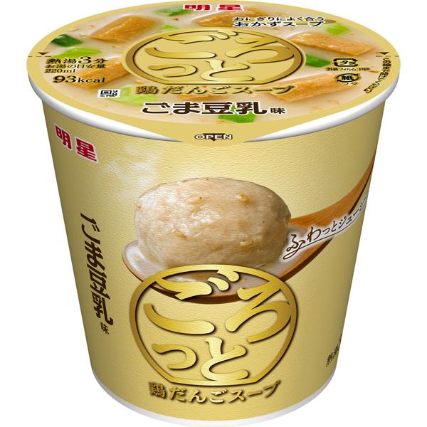 明星 ごろっと鶏だんごスープ ごま豆乳味 20g×24個入り (4ケース) (MS)