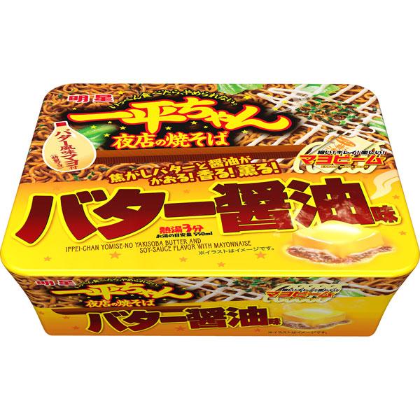 明星 一平ちゃん夜店の焼そばバター醤油味 112g×12個 (1ケース) (KT)
