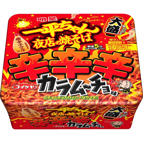 明星 一平ちゃん 夜店の焼そば 大盛辛辛辛カラムーチョ味 162g×12個入り (1ケース) (MS)