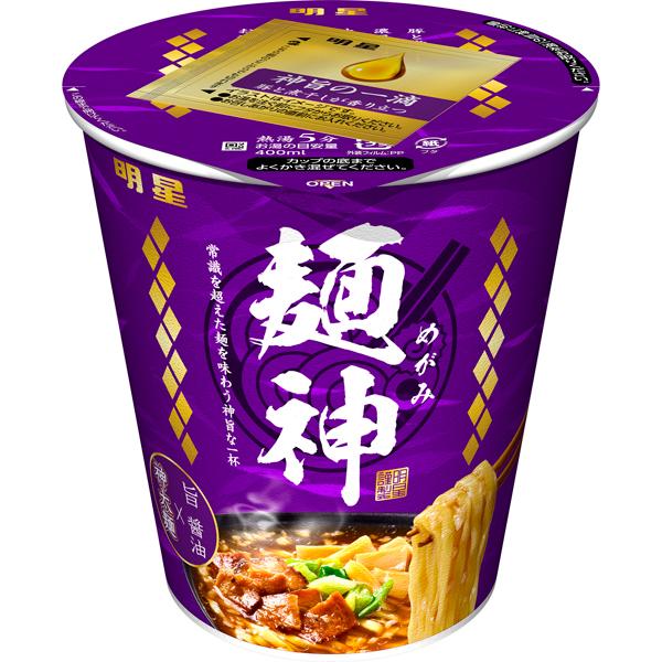 明星 麺神カップ 神太麺×旨 醤油 94g×12個入り (1ケース) (MS)