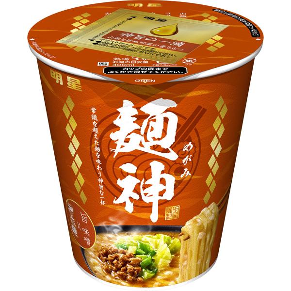 明星 麺神カップ 神太麺×旨 味噌 102g×12個入り (1ケース) (MS)