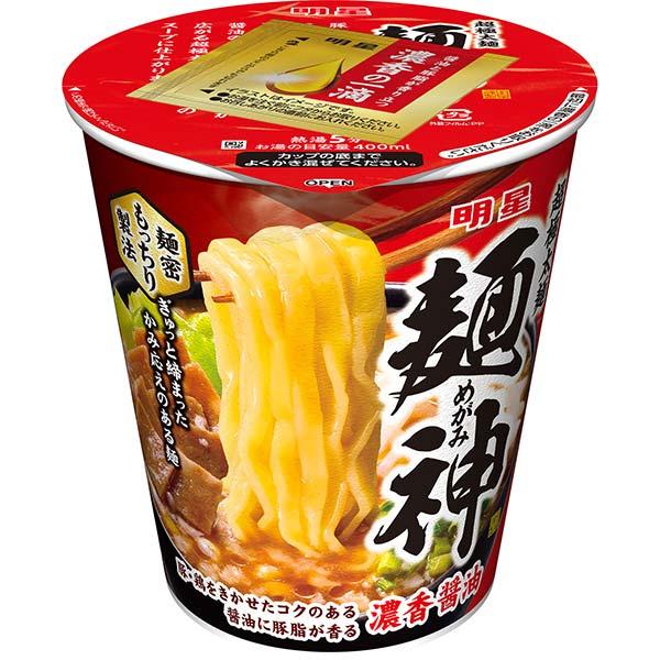 明星 麺神カップ 濃香醤油 100g×12個入り (1ケース)(AH)
