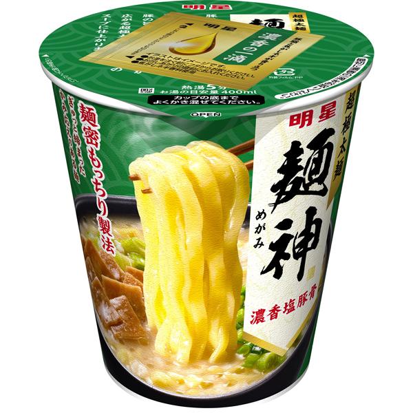 明星 麺神カップ 濃香塩豚骨 94g×12個入り (1ケース)(AH)