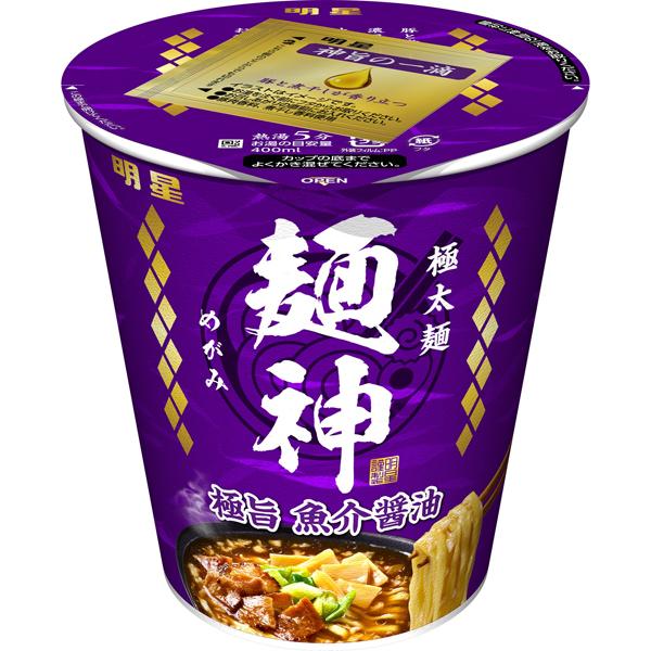 明星 麺神カップ 極旨魚介醤油 96g×12個入り (1ケース) (AH)