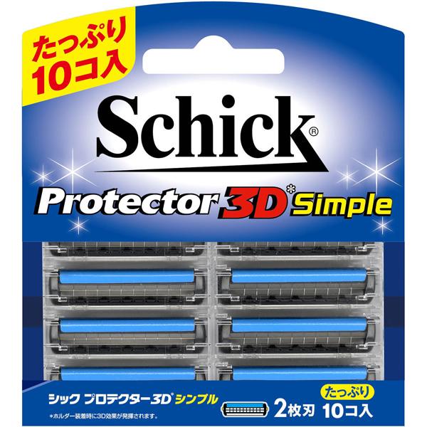 シック プロテクター3D シンプル替刃(替刃10コ入り)