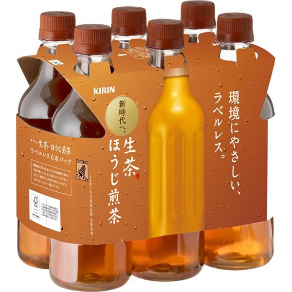 キリン 生茶 ほうじ煎茶 ラベルレス 525ml×6本×4個セット (計24本)(AH)