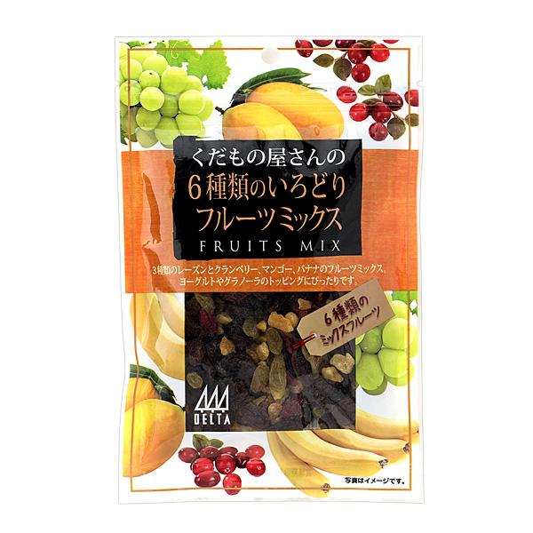 デルタ くだもの屋さんの6種類のフルーツミックス 90g×10個入り (1ケース) (YB)