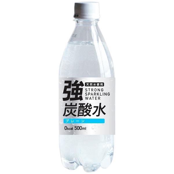 友桝飲料 強炭酸水 (富士薬品) 500ml×24本入り (1ケース) (KK)
