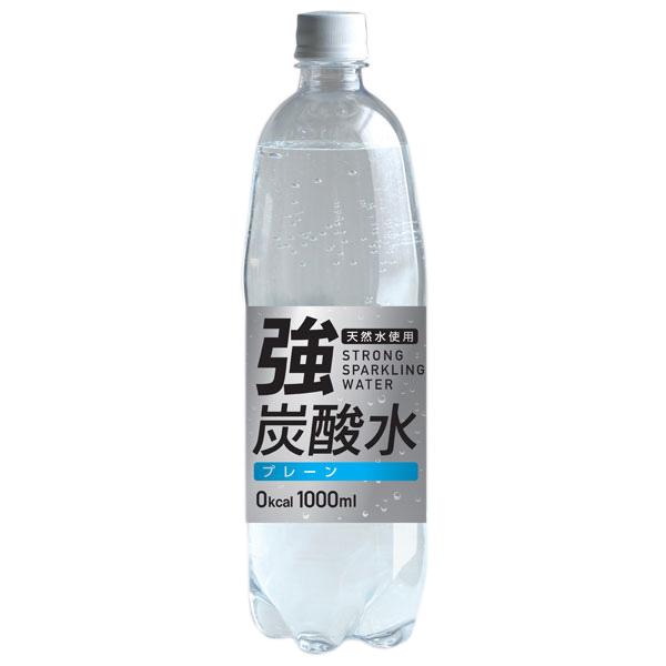 友桝飲料 強炭酸水 (富士薬品) 1000ml×15本入り (1ケース) (KK)