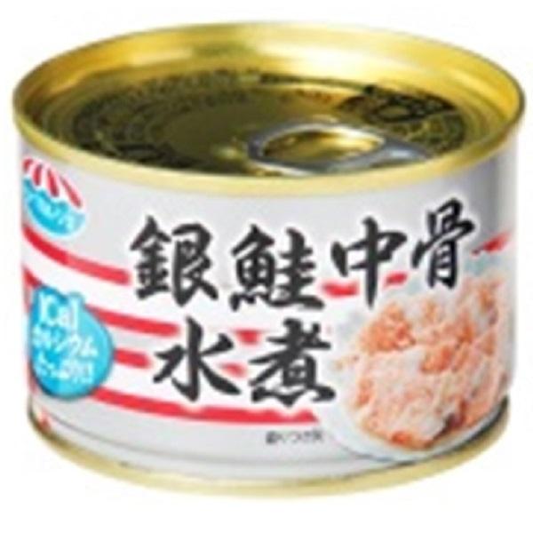 極洋 銀鮭中骨水煮 140g 24缶入り×1ケース【クレジット決済のみ】(MS)