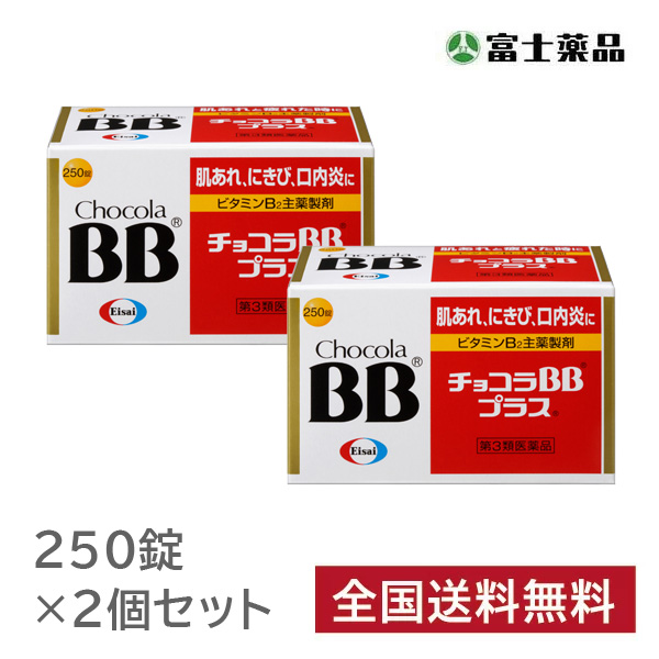 【第3類医薬品】チョコラBBプラス 250錠 2個セット