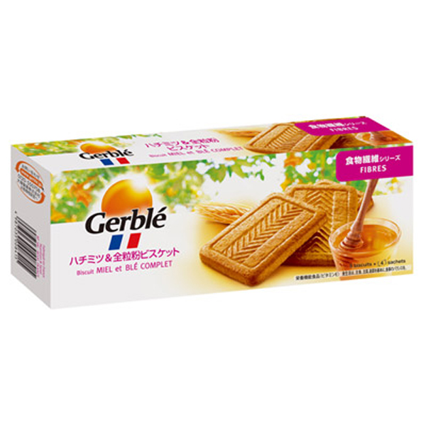Gerble(ジェルブレ) ファイバーハチミツ&全粒紛ビスケット 270g 12個入り×1ケース