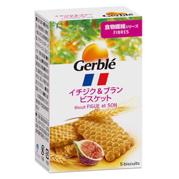 Gerble(ジェルブレ) ファイバーイチジク&ブランビスケット ポケットサイズ 42g 18個入り×1ケース